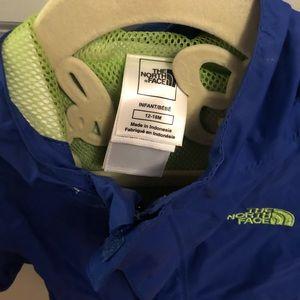 North Face Boys Rain coat Size 12-18 months